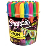 Sharpie® Neon Permanent Marker 36-Piece Display: Multi, Fine Nib, (model SN1875609D), price per each