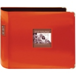 "Pioneer® 12"" x 12"" XL D-Ring Leatherette Scrapbook Binder Bright Orange: Orange, Leatherette, 12"" x 12"", (model T12JF/COR), price per each"