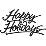 Sarasota Stamps Mounted Rubber Stamp Happy Holidays : Rubber, Mounted