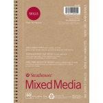 "Strathmore® 200 Series Skills 5 1/2"" x 8 1/2"" Wire Bound Mixed Media Pad: White/Ivory, Pad, 60 Sheets, 5 1/2"" x 8 1/2"", Mixed Media"