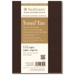 "Strathmore® 400 Series Soft Cover Toned Tan Sketch Journal 7.75"" x 9.75"": Sewn Bound, Brown, Journal, 112 Pages, 7 3/4"" x 9 3/4"", Medium, Sketching, 80 lb, (model ST481-7), price per each"