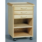 SMI Oak 3 Drawer Taboret