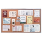 Ghent® Aluminum Frame Traditional Cork Bulletin Board 4' x 10': 10' x 4', Cork Board, (model AK410), price per each
