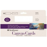 "Strathmore® Slim Size Canvas Cards 3.75"" x 9"": White/Ivory, Envelope Included, Card, 10 Cards, 3 7/8"" x 9"", Canvas, Canvas, 115 lb"