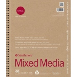 "Strathmore® 200 Series Skills 11"" x 14"" Wire Bound Mixed Media Pad: White/Ivory, Pad, 60 Sheets, 11"" x 14"", Mixed Media, (model ST20-411), price per 60 Sheets pad"