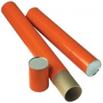 "Alvin® Orange Fiberboard Tubes 37"": Orange, 4"", 37"", Fiberboard, (model T418-37/BX), price per box"
