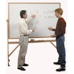 Ghent® Aluminum Frame Reversible Double-Sided Whiteboard/Corkboard 4' x 6': 4' x 6', Cork Board, Dry Erase, (model ARMK46), price per each
