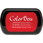 ColorBox® Full Size Archival Dye Ink Pad Geranium: Red/Pink, Pad, Dye-Based, Full Size Rectangle
