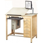 Shain Deluxe Drawing Table System: with Drawers