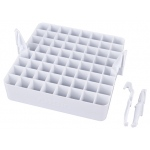 "Artbin® Marker Storage Tray: 64 Markers, White/Ivory, Plastic, 6 1/2""l x 6 1/2""w x 3""h, Storage Box, (model 6939AB), price per each"