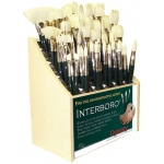 Dynasty® Interboro® Bristle Oil and Acrylic Brush 1500B Display Assortment: Long Handle, Bristle, Display Assortment, (model FM10621D), price per each