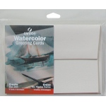 "Canson® Montval® Artist Series 5"" x 7"" Watercolor Cold Press Blank Cards 140 lb/300g: White/Ivory, Envelope Included, Card, 6-Pack, 5"" x 7"", Cold Press, (model C100511541), price per each"