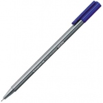 Staedtler® Triplus® Blue Fineliner Pen : Blue, .3mm, Super Fine Nib, Multi, (model 334-3), price per each