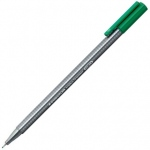 Staedtler® Triplus® Triplus Green Fineliner Pen : Green, .3mm, Super Fine Nib, Multi, (model 334-5), price per each