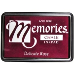 Memories™ Chalk Ink Pad Delicate Rose: Red/Pink, Pad, Chalk, Full Size Rectangle, (model SSCMDR), price per each
