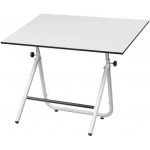"Alvin® EZ Fold Table White 36 x 48: 0 - 70, White/Ivory, Steel, 30 1/2"" - 44"", White/Ivory, 36"" x 48"", (model EZ48-4), price per each"