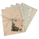 "Blue Hills Studio™ Treasure Chest™ Card Kit Metallic Floral with Silver Accents: Multi, Envelope Included, Card, 4 1/8"" x 5 5/8"", (model BHS312), price per kit"