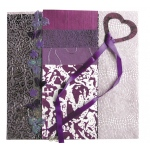 "Blue Hills Studio™ Treasure Chest™ Paper Collection Embellishment Pack Amethyst: Purple, Paper, 12"" x 12"", Dimensional"