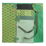 "Blue Hills Studio™ Treasure Chest™ Paper Collection Embellishment Pack Emerald: Green, Paper, 12"" x 12"", Dimensional"