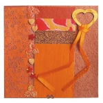 "Blue Hills Studio™ Treasure Chest™ Paper Collection Embellishment Pack Fire Opal: Orange, Paper, 12"" x 12"", Dimensional"