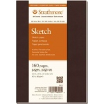 "Strathmore® 400 Series Soft Cover Sketch Journal 5.5"" x 8"": Sewn Bound, White/Ivory, Journal, 160 Pages, 5 1/2"" x 8"", Medium, Sketching, 60 lb"