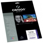 "Canson® Infinity Platine Fibre Rag 8.5"" x 11"" Platine Fibre Rag Digital Papers 10-pack: Black/Gray, Sheet, 8 1/2"" x 11"", Fine, (model C206211030), price per pack"