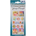 "Blue Hills Studio™ Irene's Garden™ Wings'n'Things Epoxy Stickers Thanks: Multi, 2 1/2"" x 5"", Dimensional"