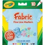 Crayola® Fabric Marker Set Fine Line: Multi, Fine Nib, (model 58-8626), price per set
