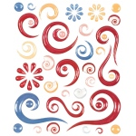 "Blue Hills Studio™ ColorStories™ Epoxy Swirl Stickers Red: Red/Pink, Epoxy, 4 3/4"" x 5 3/4"", Dimensional"