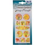 "Blue Hills Studio™ Irene's Garden™ Wings'n'Things Epoxy Stickers Spring: Multi, 2 1/2"" x 5"", Dimensional, (model BHS005), price per each"