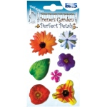 "Blue Hills Studio™ Irene's Garden™ Perfect Petals Stickers Mix B: Multi, 3 1/8"" x 4 3/4"", Dimensional"