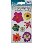 "Blue Hills Studio™ Irene's Garden™ Perfect Petals Stickers Mix C: Multi, 3 1/8"" x 4 3/4"", Dimensional"
