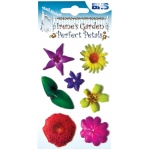 "Blue Hills Studio™ Irene's Garden™ Perfect Petals Stickers Mix D: Multi, 3 1/8"" x 4 3/4"", Dimensional, (model BHS010), price per each"