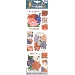 "Blue Hills Studio™ Irene's Garden™ Seed Packet Fabric Stickers Red White & Blue: Multi, 9"", Flat"