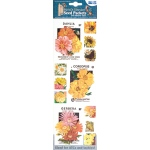 "Blue Hills Studio™ Irene's Garden™ Seed Packet Fabric Stickers Yellow: Yellow, 9"", Flat"