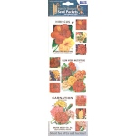 "Blue Hills Studio™ Irene's Garden™ Seed Packet Fabric Stickers Red: Red/Pink, 9"", Flat"