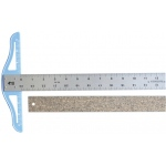 "Fairgate® Cork Backed Standard T-Square 12"": Aluminum, 12"", T-Square, (model CBT12), price per each"
