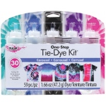 Tulip® One-Step Tie-Die Kits™ Carousel: Multi, Kit, Dye-Based, (model D31677), price per kit