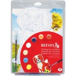 "Reeves™ Color & Shape Painting by Number Dog Set: Multi, 9 3/4"" x 13"", (model PBNCS1), price per set"