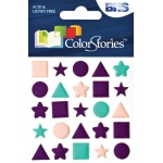 "Blue Hills Studio™ ColorStories™ Puffy Mesh Stickers Purple: Purple, Mesh, 3 1/4"" x 3 1/4"", Dimensional"
