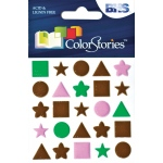 "Blue Hills Studio™ ColorStories™ Puffy Mesh Stickers Brown: Brown, Mesh, 3 1/4"" x 3 1/4"", Dimensional"