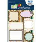 "Blue Hills Studio™ ColorStories™ Embossed Cardstock Stickers Brown: Brown, Cardstock, 4 3/4"" x 5 3/4"", Flat"