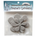 Blue Hills Studio™ Irene's Garden™ Chipboard Die-Cut Stack Pack Set B: Black/Gray, Chipboard, 55 mm - 62 mm, 75 mm - 80 mm, Dimensional