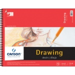 "Canson® Foundation Series 14"" x 17"" Foundation Drawing Pad: Wire Bound, White/Ivory, Pad, 30 Sheets, 14"" x 17"", Fine, (model C100510980), price per 30 Sheets pad"