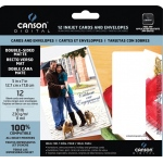 "Canson® Digital Double-Sided Matte Inkjet Cards and Envelopes: White/Ivory, Card, 5"" x 7"", Smooth, Matte, (model C100516299), price per pack"
