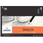 "Canson® Artist Series Universal™ 18"" x 24"" Sketch Pad: Wire Bound, White/Ivory, Pad, 35 Sheets, 18"" x 24"", Fine, (model C100510854), price per 35 Sheets pad"