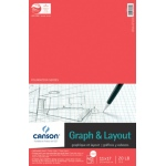 "Canson® Foundation Series 11"" x 17"" Graph and Layout Sheet Pad: Fold Over, White/Ivory, Pad, 40 Sheets, 11"" x 17"", Lightweight, (model C100510874), price per 40 Sheets pad"