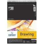 "Canson® C R Grain® Artist Series 9"" x 12"" Drawing Sheet Pad: Wire Bound, White/Ivory, Pad, 20 Sheets, 9"" x 12"", Fine, Medium, (model C100510886), price per 20 Sheets pad"