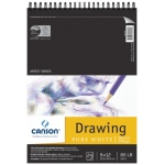 "Canson® Artist Series 9"" x 12"" Drawing Sheet Pad: Wire Bound, White/Ivory, Pad, 24 Sheets, 9"" x 12"", Fine"