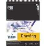 "Canson® Artist Series 11"" x 14"" Drawing Sheet Pad: Wire Bound, White/Ivory, Pad, 24 Sheets, 11"" x 14"", Fine, (model C100510891), price per 24 Sheets pad"